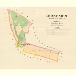 Gröneshof - m1383-2-001 - Kaiserpflichtexemplar der Landkarten des stabilen Katasters
