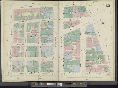Manhattan, V. 3, Double Page Plate No. 53 [Map bounded by E. 9th St., 4th Ave., E. 4th St., Wooster St., University Pl.]