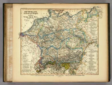 Deutschland, Niederlande, Belgien und Schweiz: National, Sprach, Dialect Verschiedenheit.