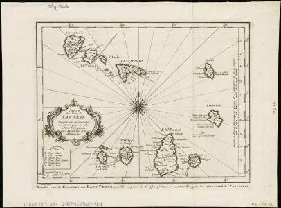 Carte des Isles du Cap Verd = Kaart van de Eilanden van Kabo Verde, geschikt volgens de Daghregisters, en Aanmerkingen, der ervaarendste Zeelieden