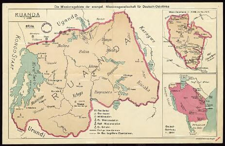 The mission areas of the Evangelical Mission Society for German East Africa [Bethel Mission]. Ruanda