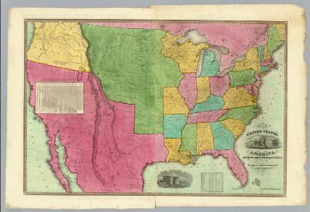 Map Of The United States Of America.