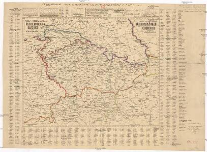 Poštovní mapa korunních zemí Čechy, Morava Slezsko