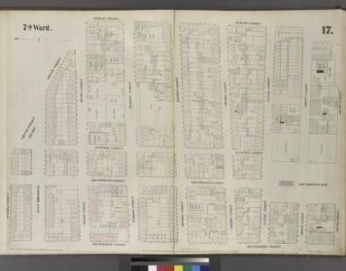Plate 17: Map bounded by Division Street, Grand Street, Jackson Street, South Street, Montgomery Street.