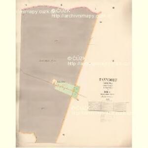 Tanndorf (Gedlowa) - c2808-1-003 - Kaiserpflichtexemplar der Landkarten des stabilen Katasters