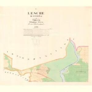 Lesche (Lestina) - m1504-1-001 - Kaiserpflichtexemplar der Landkarten des stabilen Katasters