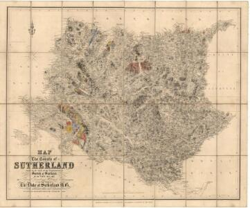 Map of the county of Sutherland made on the basis of the trigonometrical survey of Scotland in the years 1831, 1832.