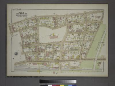 Plate 66, Part of Section 12, Borough of the Bronx. [Bounded by Briggs Avenue, E. Mosholu Parkway South, Webster Avenue, E. 197th Street, Bainbridge Avenue and E. 196th Street.]