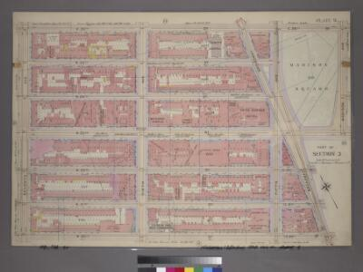 Plate 9, Part of Section 3: [Bounded by W. 26th Street, E. 26th Street, Madison Avenue, W. 23rd Street, Broadway, E. 20th Street, W. 20th Street and Seventh Avenue.]