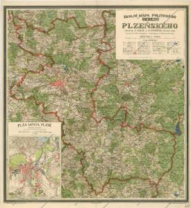 Školní mapa politického okresu Plzeňského
