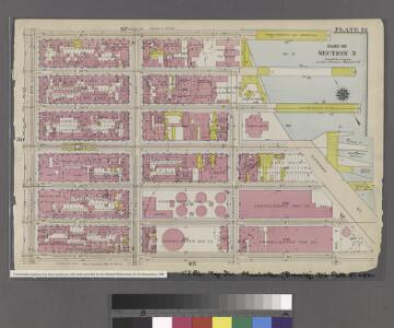 [Plate 51: Bounded by E. 26th Street, East River [Piers 74-70], Exterior Street, E. 20th Street, and Second Avenue.]