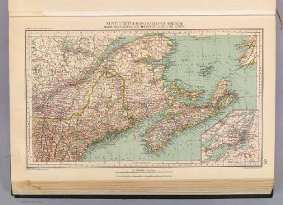 129. Maine, Nova Scotia, New Brunswick, Quebec.