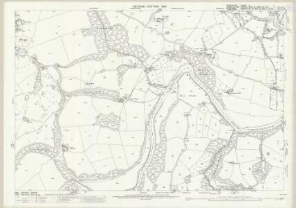 Shropshire V.4 (includes: Ellesmere Rural; Erbistock; Overton; Rhiwabon) - 25 Inch Map