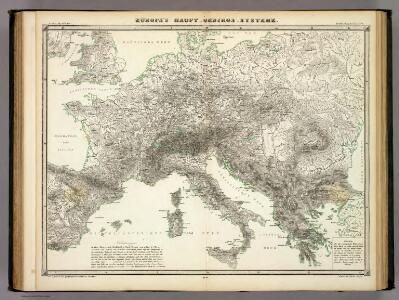 Europa's Haupt-Gebirgs Systeme.