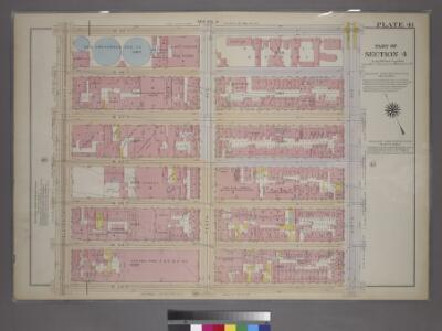Plate 41, Part of Section 3: [Bounded by W. 59th Street, Ninth Avenue, W. 53rd Street and Eleventh Avenue.]
