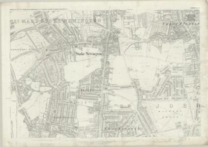 London (First Editions c1850s) X (includes: Hackney; Stoke Newington) - 25 Inch Map