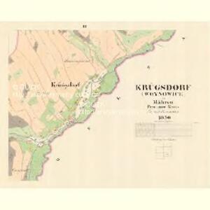 Krügsdorf (Woynowice) - m3455-1-003 - Kaiserpflichtexemplar der Landkarten des stabilen Katasters