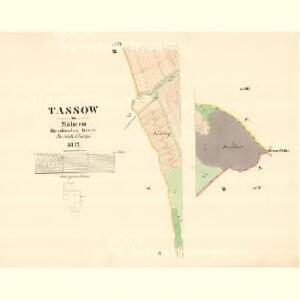 Tassow - m3081-1-005 - Kaiserpflichtexemplar der Landkarten des stabilen Katasters