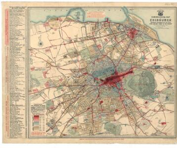 Chronological map of Edinburgh showing expansion of the City from earliest days to the present.
