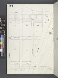 Brooklyn V. 8, Plate No. 109 [Map bounded by Cozine Ave., Fountain Ave., Vandalia Ave., Berriman St.]