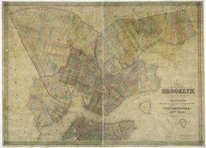 Map of the city of Brooklyn, as laid out by commissioners, and confirmed by acts of the Legislature of the state of New York : made from actual surveys, the farm lines and names of original owners, being accurately drawn from authentic sources, containin
