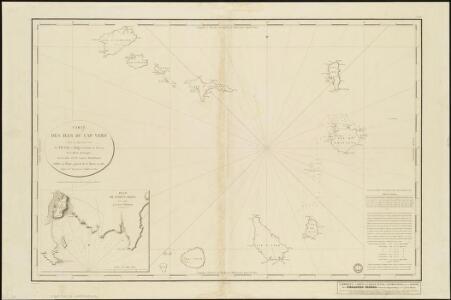 Carte des Isles du Cap Verd, levée en 1819 1820 et 1822