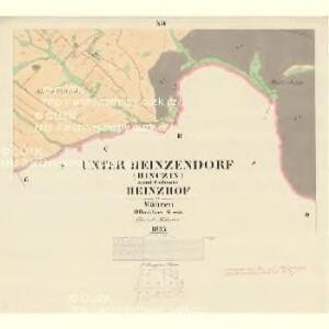 Unter Heinsendorf (Hinczin) - m0947-2-011 - Kaiserpflichtexemplar der Landkarten des stabilen Katasters