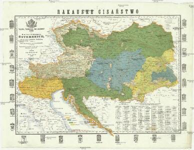 Völker-, Telegrafen- und Eisenbahn- Karte des Kaiserthumes Österreich