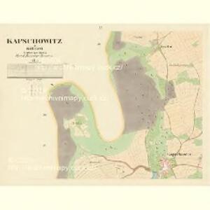Kapschowitz - c2466-1-002 - Kaiserpflichtexemplar der Landkarten des stabilen Katasters