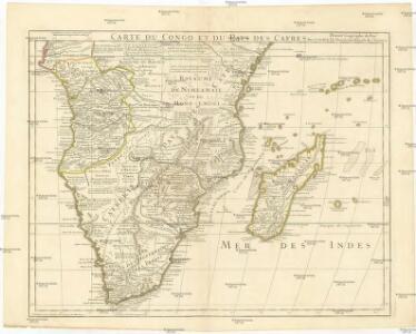 Carte du Congo et du pays des Cafres