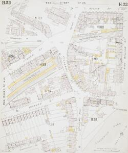 Insurance Plan of London East South-East District Vol. H: sheet 22
