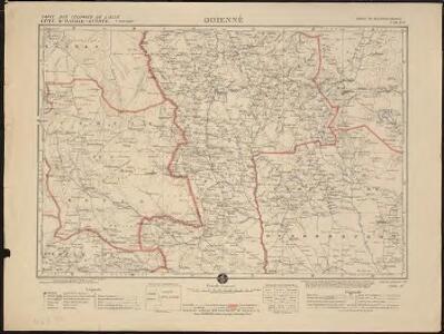 Carte des colonies de l'A.O.F. Odienné