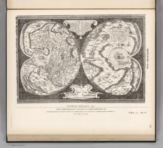 Facsimile:  World by Mercator.