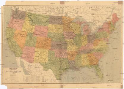 Large print map of the United States