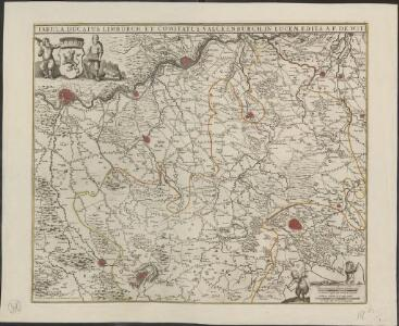Tabula Ducatus Limburch, et Comitatus Valckenburch