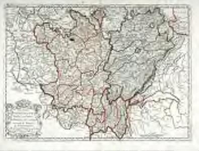 Les deux Bourgognes duché, et comté. la Bresse, &c. la souveraineté de Dombes, le Nivernois &c