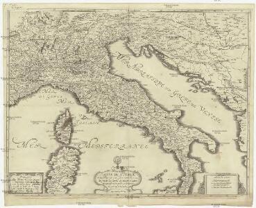 Carte de l'Italie et des pais circonuoisins