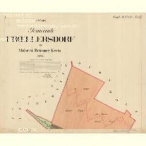 Fröllersdorf - m1088-2-001 - Kaiserpflichtexemplar der Landkarten des stabilen Katasters