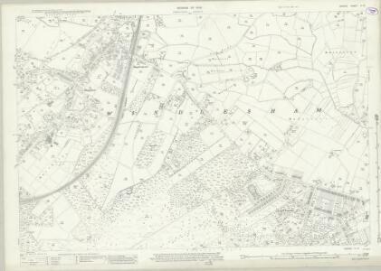 Surrey X.13 (includes: Windlesham) - 25 Inch Map
