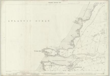 Cornwall XXXI.16 (includes: Newquay) - 25 Inch Map