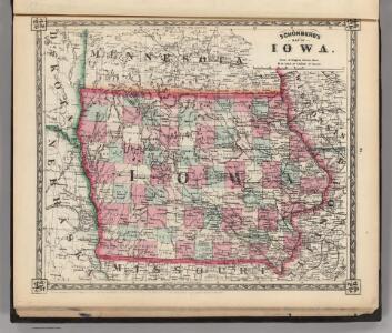 Schonberg's Map of Iowa.