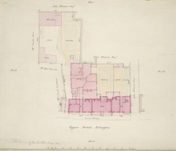 Plan of property in Upper Street, Islington