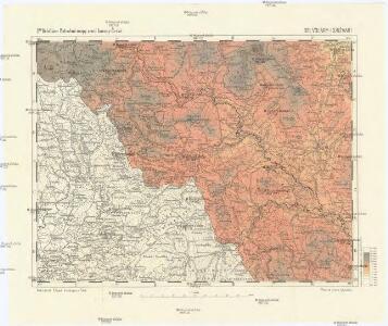 Podrobné mapy zemí Koruny české v měřítku 1:75.000 a mapa vzdáleností všech míst při silnici ležících