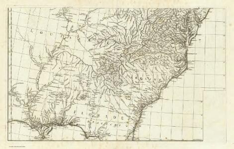 (Canada, Louisiane et Terres Angloises. Southeast section)