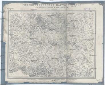 Gipsometričeskaja karta Polěs'ja s oboznačenijem kanalizacii