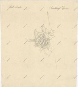 Záměrná mapa-brouillon-Lomnice nad Lužnicí a jejího okolí 1