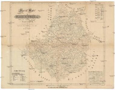 Special-Karte des Piseker Kreis, resp. politischen Verwaltungsbezirkes im Boehmen