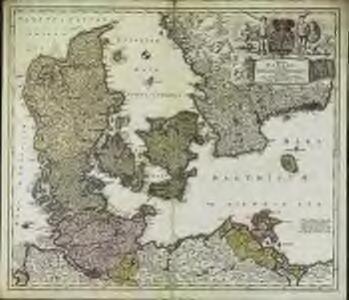 Regni Daniae in quo sunt ducatus Holsatia et Slesvicum, insulæ Danicæ provinciæ Iutia Scania Blekingia nova tabula