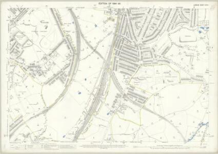 London (Edition of 1894-96) CXVIII (includes: Camberwell; Deptford St Paul; Lewisham) - 25 Inch Map