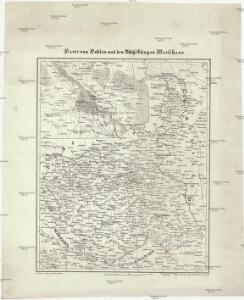 Karte von Pohlen und den Umgebungen Warschaus